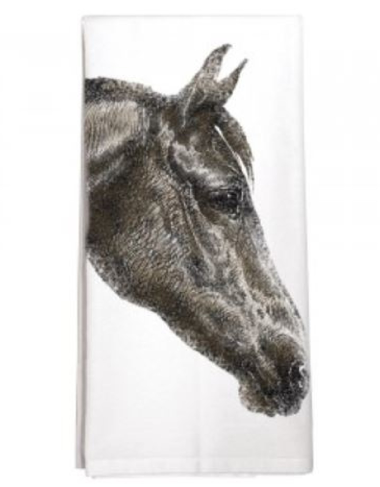 Dark Horse Face - Single Towel