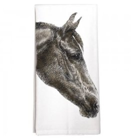 Dark Horse Face - Single Towel