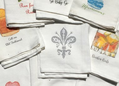 French Graffiti Towels