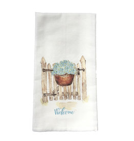 Towel - Gate w/Hydrangea Basket Welcome