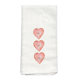 Towel - Three Hearts XO