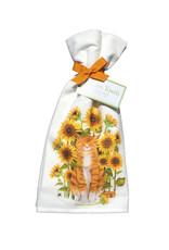 Cat & Sunflowers Towel Set