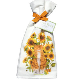 Cat & Sunflowers Towel Set