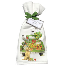 Green Truck Garden Towel Set