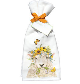 Sheep Flower Crown Towel Set