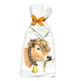 Daisy Cow Towel Set