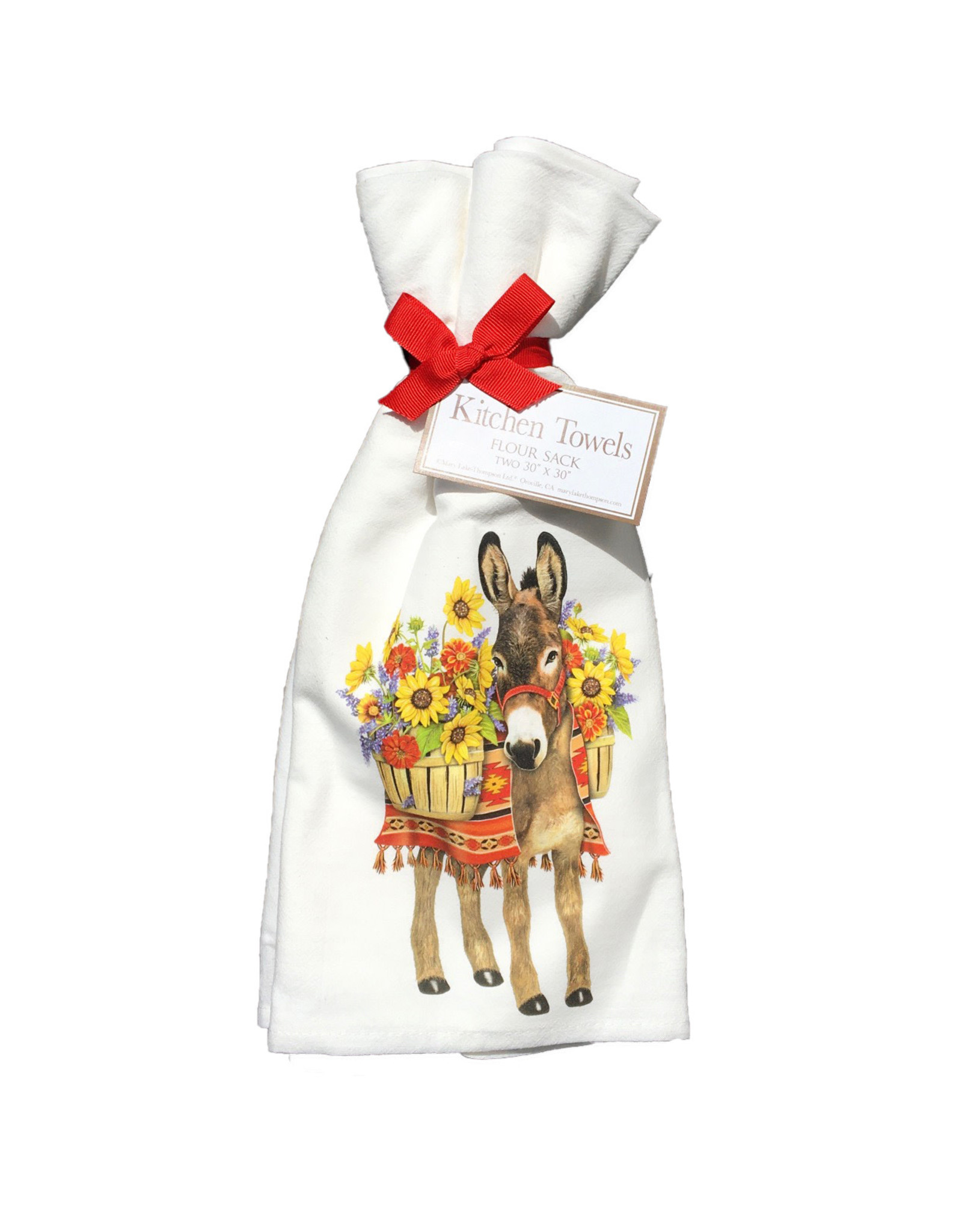 Donkey Sunflowers Towel Set