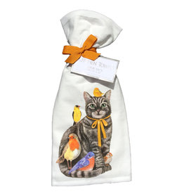 Cat & Birds Towel Set