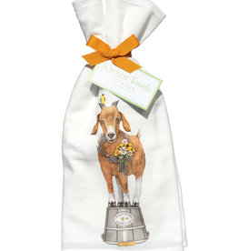 Goat Daisy Wreath Towel Set