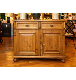 "2 Door Buffet, 45 1/4"" x 20"" x 35 1/2"" - Natural Wax Finish"