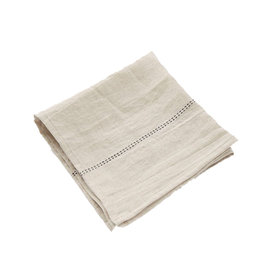 Charvet Editions - Rythmo Napkin - Natural/Black