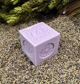 """42F Savon de Marseilles Lavender Soap 2"""" Cube - 3.55oz/100g"""