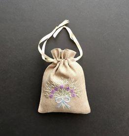 Lavender filled Sachet - Linen - 5 x 7