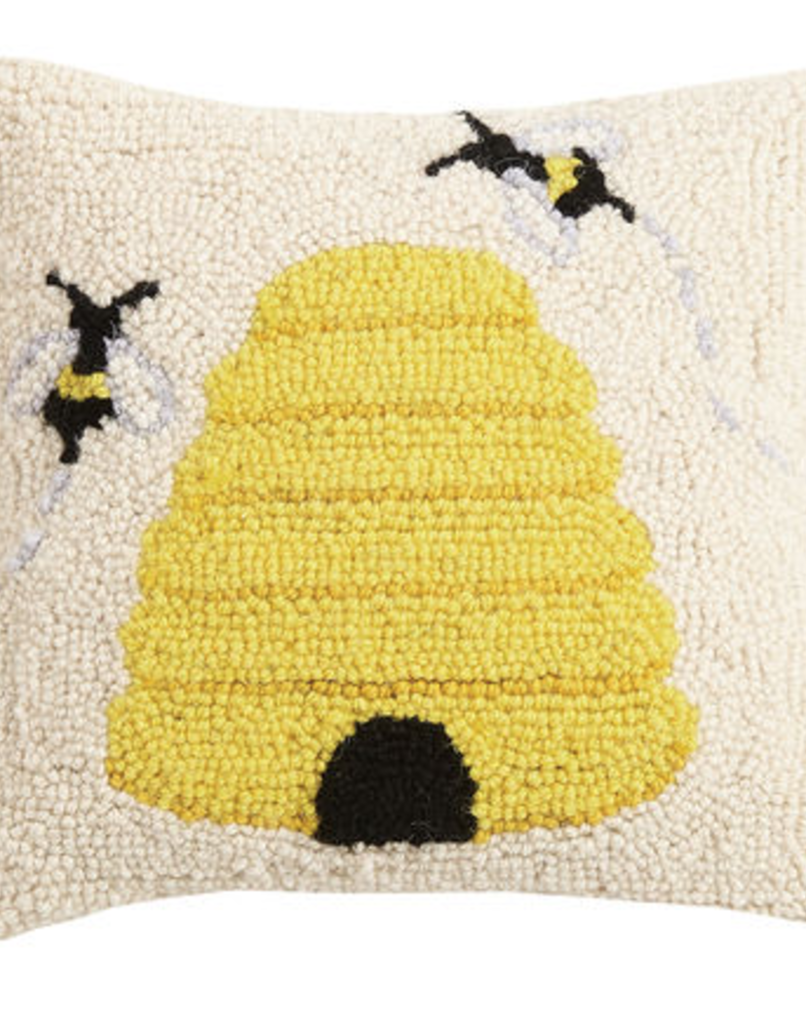 "16x16"" Bee Hooked Pillow"