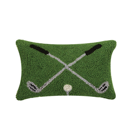 "Crossed Golf Clubs Hook Pillow - 8"" x 12"""