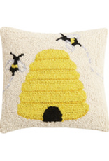 "Beehive Hook Pillow - 10"" x 10"""