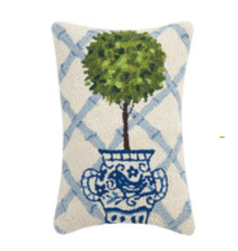 Ball Topiary Hook Pillow - 12 x 18