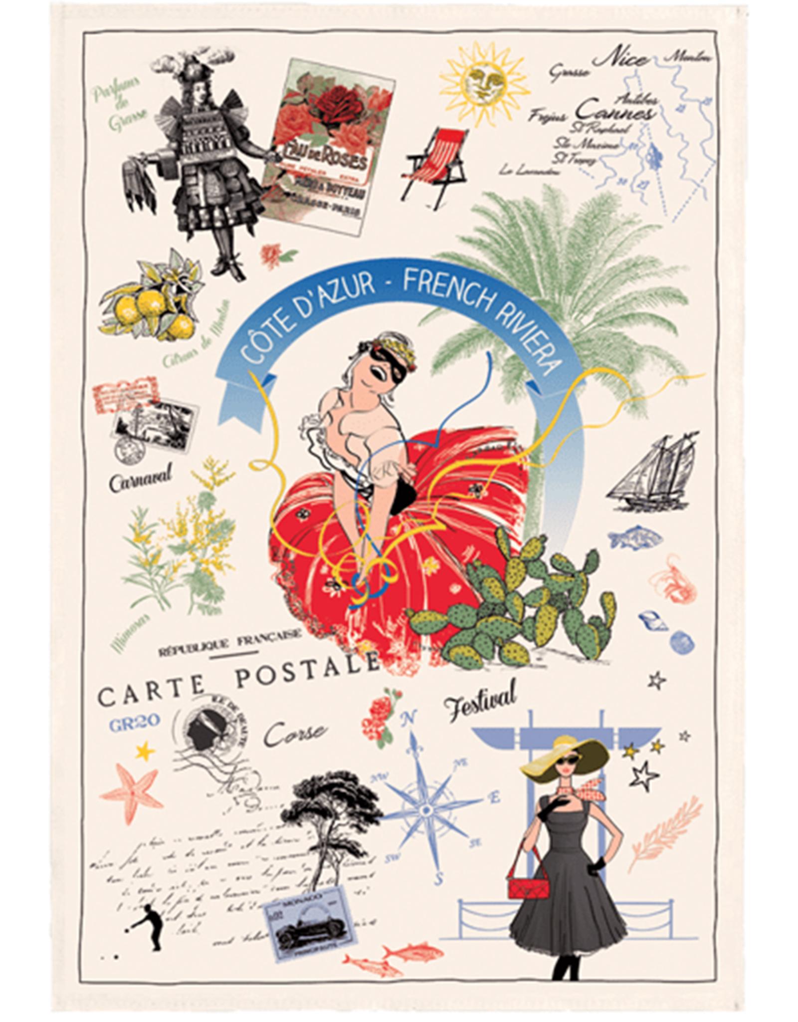 42F French Riviera Dish Towel