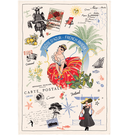SDE French Riviera Dish Towel