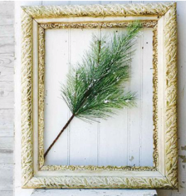 Silver Fir Spray W/Snow - 24""