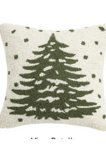 "Christmas Tree Hook Pillow - 16"" x 16'"