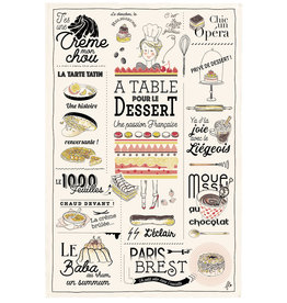 SDE French Dessert Dish Towel