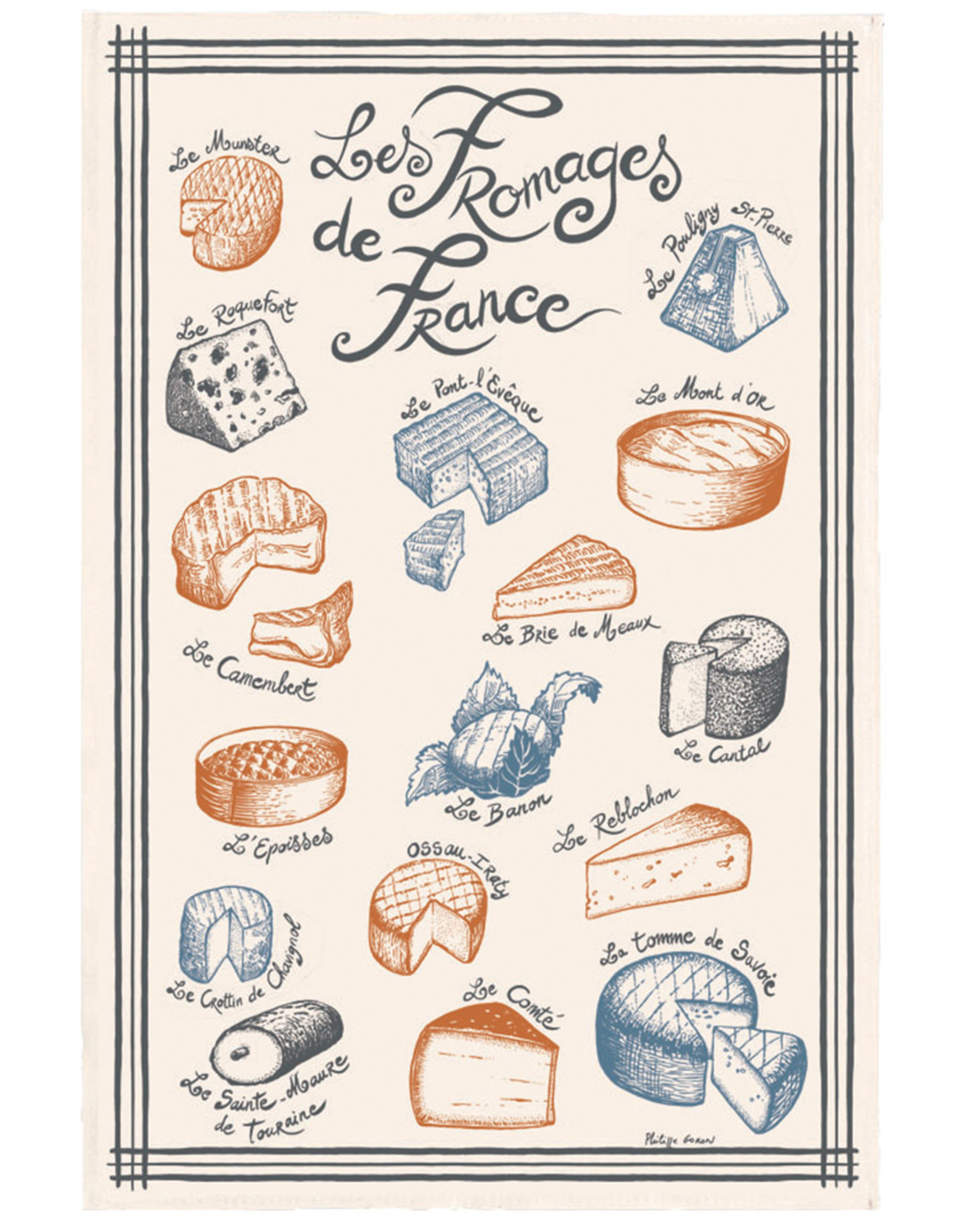 SDE French Cheese Dish Towel