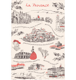 "SDE ""La Provence"" Scenes of France Dish Towel"