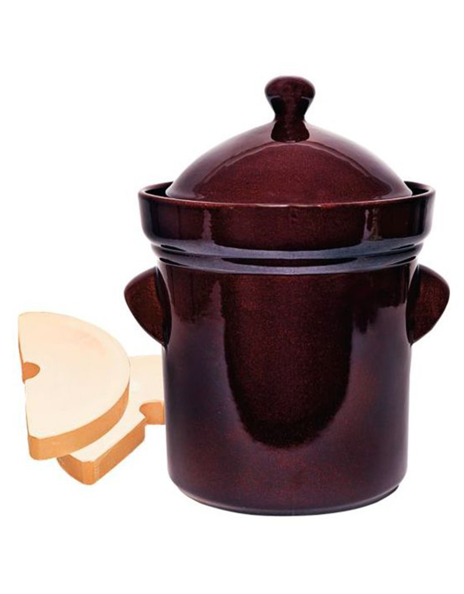 Polish Pottery Fermenting 5L Brown - Straight Pot (Packed)