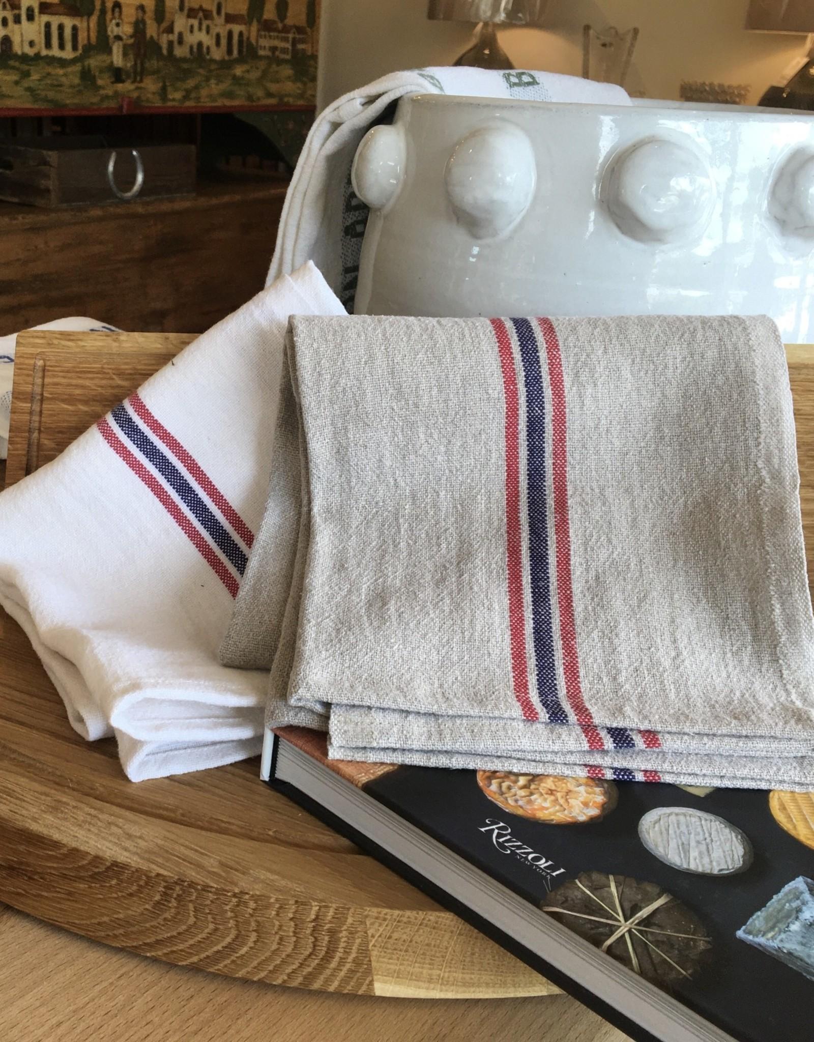 "Charvet Editions - Bistro/Tea Towel Blanchi Drapeau - 21""x30"""