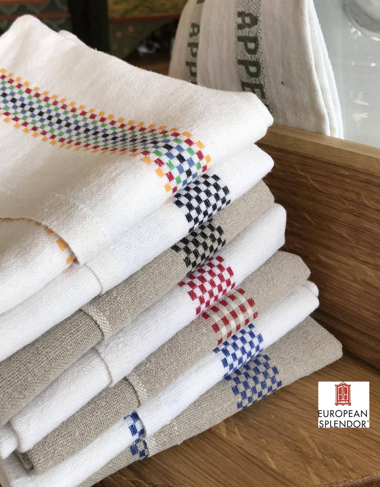 "Charvet Editions - Bistro/Tea Towel Red/White Lustucru - 18""x30"""