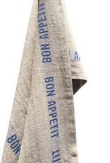 Bistro/Tea Towel - Bon Appetit Blue / Natural - Charvet Editions