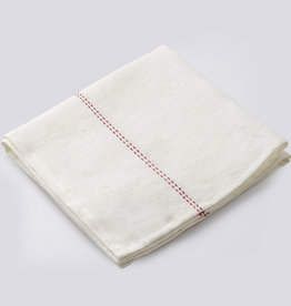 "Charvet Editions - Red (Rythmo) Napkin - 18""x18"""