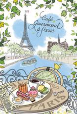 Cafe Gourmand a Paris Dish Towel