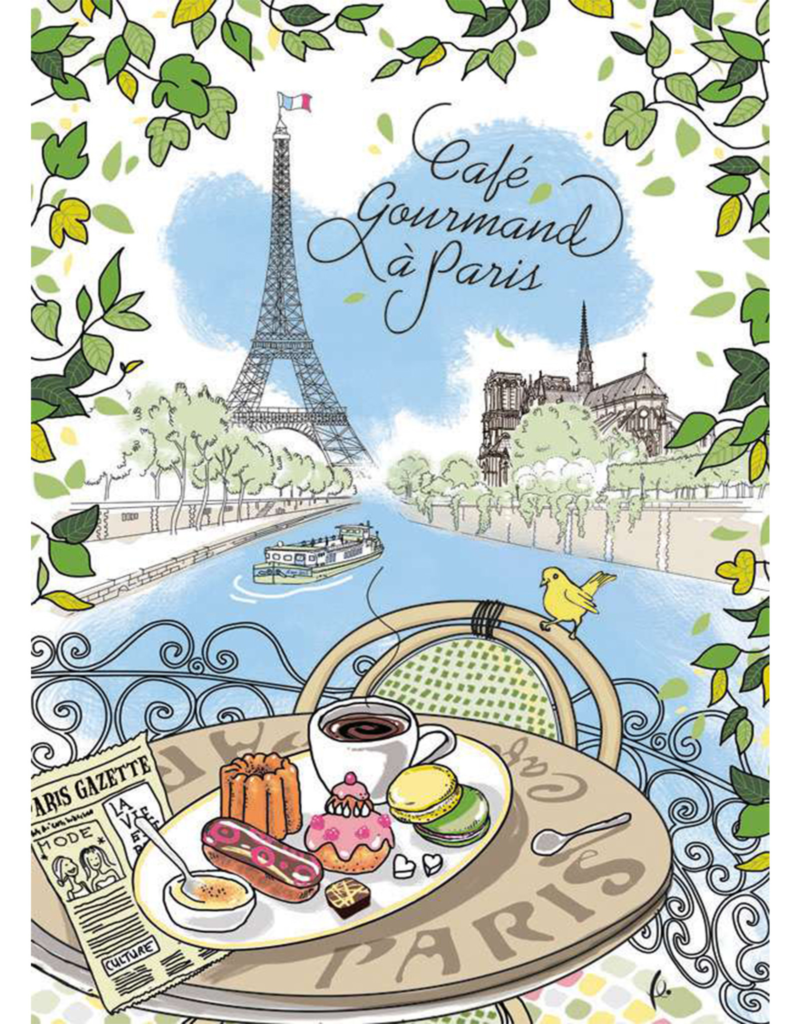 SDE Cafe Gourmand a Paris Dish Towel