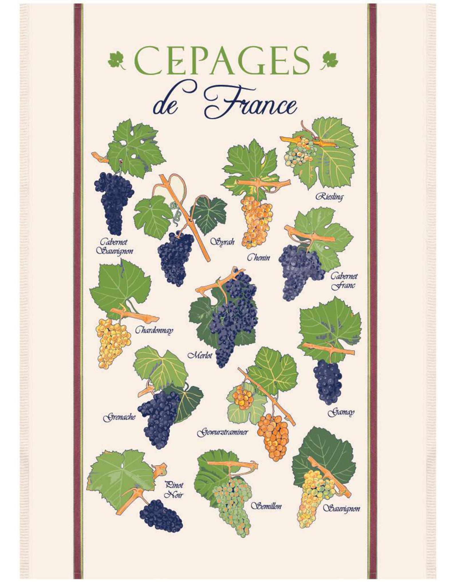 """SDE Cepages de France Kitchen Towel 23"""" X 31"""""""