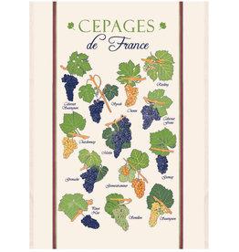"""Cepages de France Kitchen Towel 23"""" X 31"""""""
