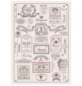 Etiquettes De Vins Kitchen Towel