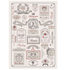 SDE Etiquettes De Vins Kitchen Towel