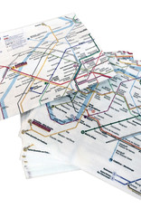 "SDE Paris Metro (Plan RATP) Paper Napkins - Set of 20. 13"" x 13"""