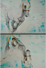 """Atlas"" - Oil on Canvas (diptych) 60""x40""by Ewa Perz"