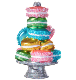 RI STACKED MACARONS ORNAMENT - 5.25 ""