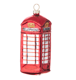 """TELEPHONE BOOTH ORNAMENT - 4.5"""""""