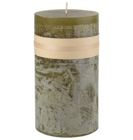 "Timber Candle 3.25' x 6"" - Moss"