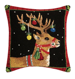 "Prancer Hook Pillow -  18"" x 18"""