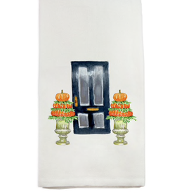Towel - Black Door w/Pumpkin Topiary