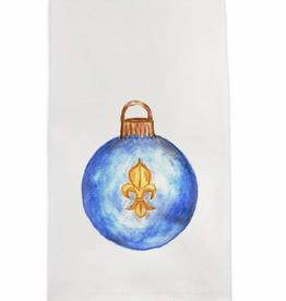 Towel - Blue Fleur Ornament