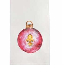 Towel - Red Fleur Ornament
