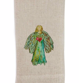 Linen Towel - A Colorful Angel