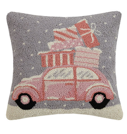"Pastel Christmas Car Hook Pillow - 16"" X 16"""